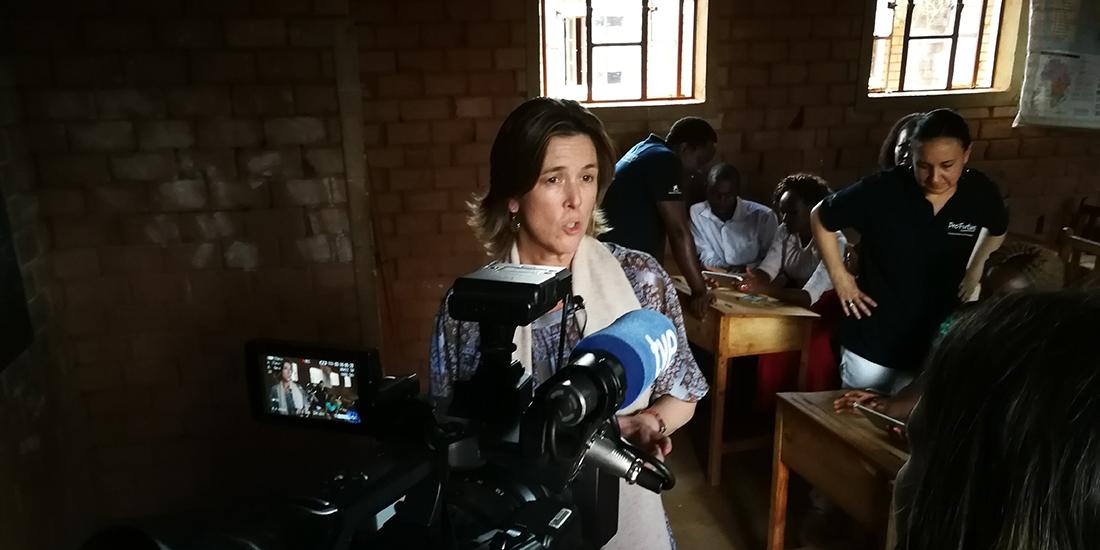 Sofía Fernández de Mesa, durante una entrevista.