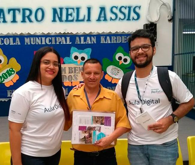 Con el profesor José Roberto Alencar.